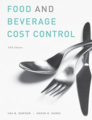 Study Guide to Accompany Food and Beverage Cost Control