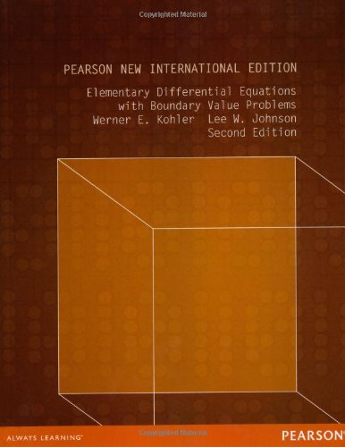 elementary differential equations kohler and johnson pdf