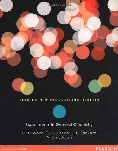 Experiments in General Chemistry: Pearson New International Edition