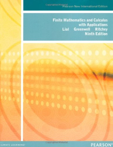 Finite Mathematics and Calculus with Applications: Pearson New International Edition