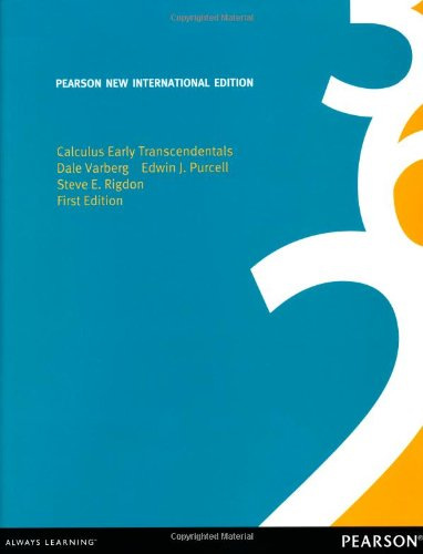 Calculus Early Transcendentals: Pearson New International Edition