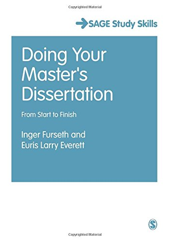 publishing a masters dissertation Masters of arts in publishing some courses will also cover general management skills through dissertation and independent study masters of science (1.