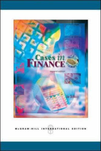cases in finance jim demello solutions