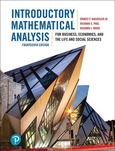 Introductory Mathematical Analysis for Business, Economics, and the Life and Social Sciences 14/e