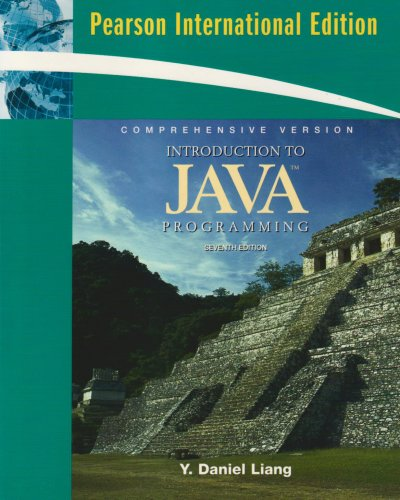 Introduction to Java Programming, Comprehensive Version: International Version