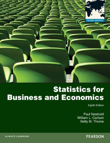 Statistics for Business and Economics with MyMathLab Global XL