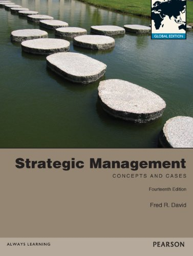 david fred growth strategies Strategy formulation refers to the process of choosing the most appropriate course of action for the realization of organizational goals and objectives and thereby achieving the organizational vision the process of strategy formulation basically involves six main steps though these steps do not.