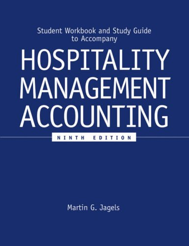 Hospitality Management Accounting Student Workbook
