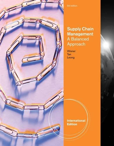 Supply Chain Management: A Balanced Approach, International Edition (with Printed Access Card)