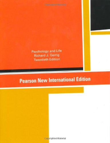 Psychology and Life: Pearson New International Edition