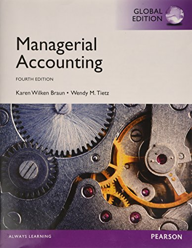 (KOD) Managerial Accounting, Global Edition