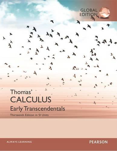 Thomas  Calculus: Early Transcendentlas in Si Units