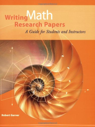 writing math research papers Unfortunately, many of these troubled students expect a topic to appear out of thin air if you've been racking your brain to figure out what topic would be a great one for your mathematics research paper, we have a suggestion.