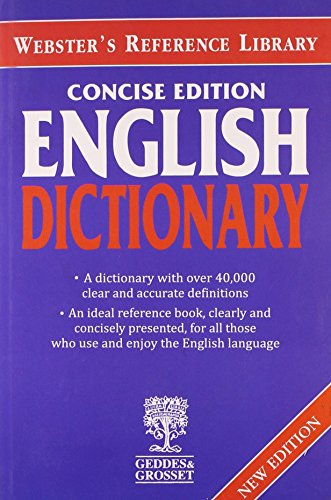 Websters Concise English Dictionary (Webster s reference library)