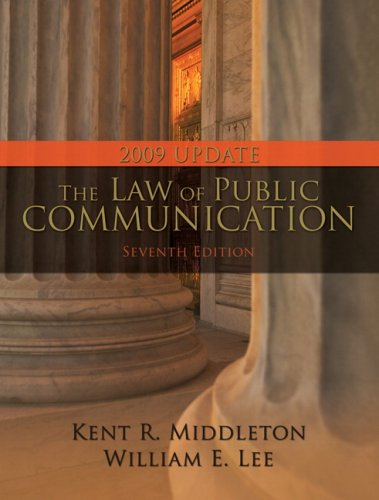 Law of Public Communication, 2009 Update Edition, The