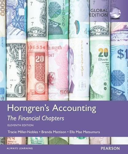Horngren s Accounting, the managerial Chapters