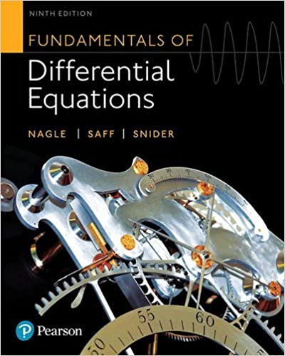 (KOD) (Differential Equations) Nagle, Fundamentals of Differential Equations, 9/e (kitabın e-book erişimini içermektedir)